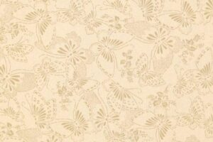 BOLT END Butterflies Tan on Beige  1.6m piece