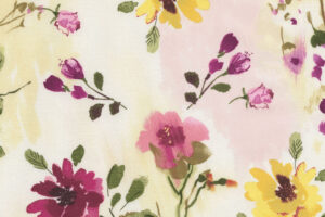 Muse Tossed Watercolour Floral Natural C5796