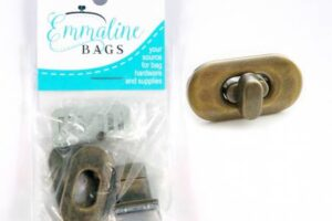 Small Turn Lock Antique Brass