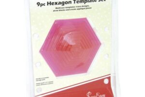 9 Piece Hexagon Template Set  Sew Easy