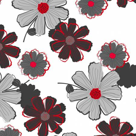 Cherry Pop Large Floral White 90373 193