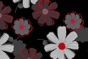 Cherry Pop Large Floral Black 90373 993