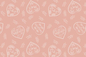 Chalk Hearts on Blush 6004 62