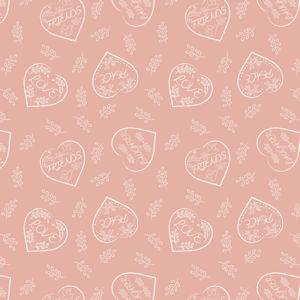 Chalk Hearts on Blush 6004 62