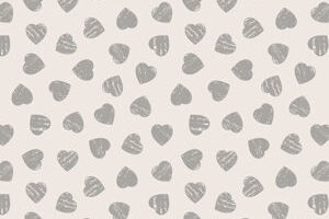Grey Hearts on Light Cream 6004 82