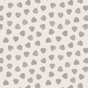 Grey Hearts on Light Cream 6004 82