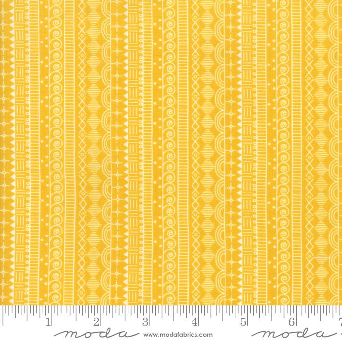 Wanderlust Doodle Stripe Saffron 3542 19