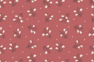 Snowdrops on Dusky Red 6005 62