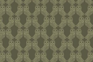 Owls on Forest Green  6005 92