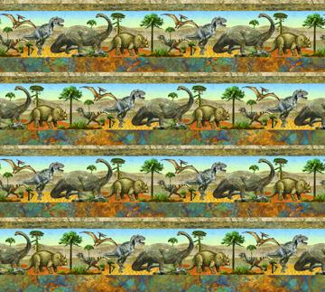 Prehistoric Border Print 39185 42