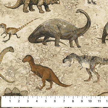 Prehistoric Dinosaurs Neutral tones 39186 34